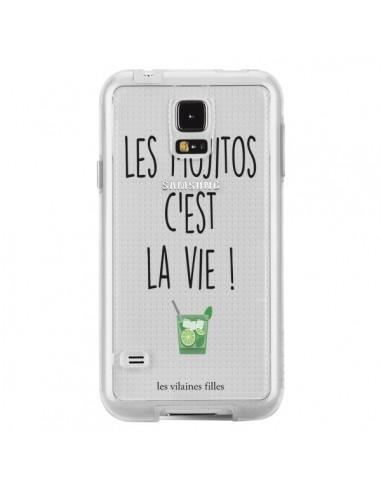 Coque Les Mojitos, c'est la vie Transparente pour Samsung Galaxy S5 - Les Vilaines Filles