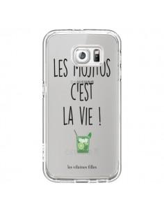 Coque Les Mojitos, c'est la vie Transparente pour Samsung Galaxy S6 - Les Vilaines Filles