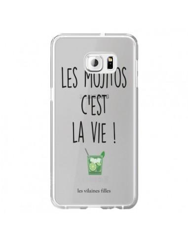Coque Les Mojitos, c'est la vie Transparente pour Samsung Galaxy S6 Edge Plus - Les Vilaines Filles