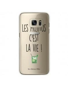Coque Les Mojitos, c'est la vie Transparente pour Samsung Galaxy S7 Edge - Les Vilaines Filles