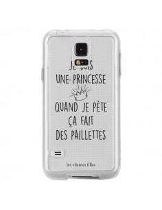 Coque Je suis une princesse quand je pète ça fait des paillettes Transparente pour Samsung Galaxy S5 - Les Vilaines Filles