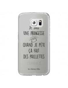 Coque Je suis une princesse quand je pète ça fait des paillettes Transparente pour Samsung Galaxy S6 Edge - Les Vilaines Filles