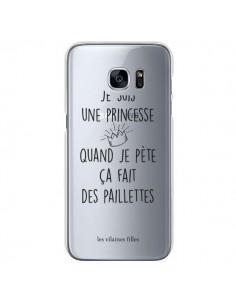 Coque Je suis une princesse quand je pète ça fait des paillettes Transparente pour Samsung Galaxy S7 - Les Vilaines Filles