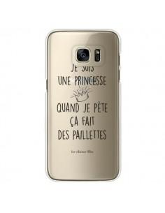 Coque Je suis une princesse quand je pète ça fait des paillettes Transparente pour Samsung Galaxy S7 Edge - Les Vilaines Filles