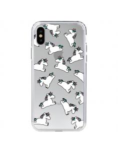 Coque Licorne Crinière Transparente pour iPhone X - Nico