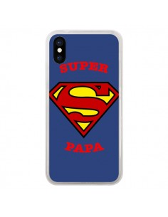 Coque Super Papa Superman pour iPhone X - Laetitia