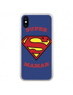 Coque Super Maman Superman pour iPhone X - Laetitia