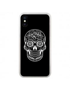 Coque Tête de Mort Mexicaine Blanche pour iPhone X - Laetitia