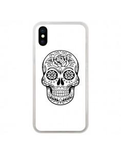 Coque Tête de Mort Mexicaine Noir pour iPhone X - Laetitia