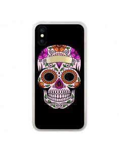 Coque Tête de Mort Mexicaine Multicolore pour iPhone X - Laetitia
