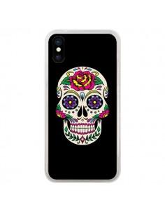 Coque Tête de Mort Mexicaine Multicolore Noir pour iPhone X - Laetitia