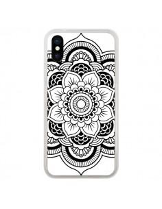 Coque Mandala Noir Azteque pour iPhone X - Nico