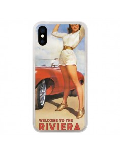 Coque Welcome to the Riviera Vintage Pin Up pour iPhone X - Nico