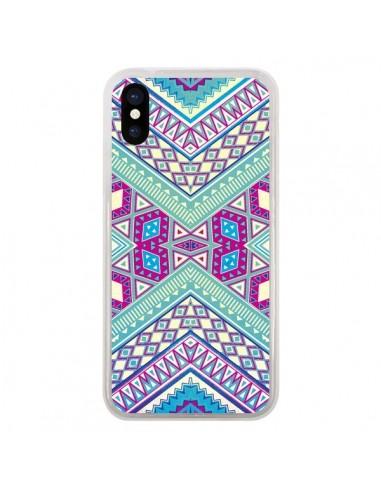 Coque iPhone X et XS Azteque Lake -...