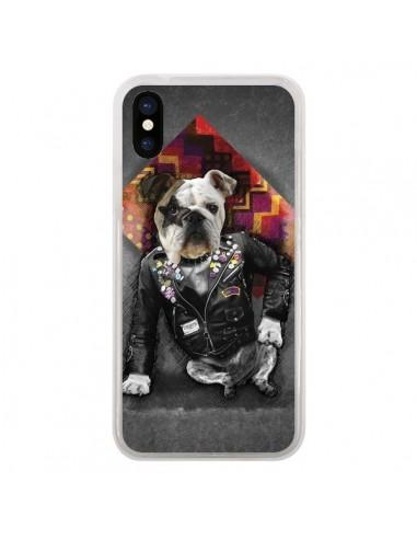 Coque iPhone X et XS Chien Bad Dog -...