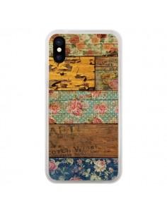 Coque iPhone X et XS Barocco Style Bois - Maximilian San