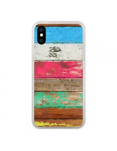 Coque iPhone X et XS Eco Fashion Bois...