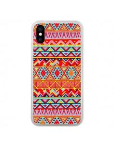 Coque India Style Pattern Bois Azteque pour iPhone X et XS - Maximilian San