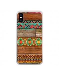 Coque Indian Wood Bois Azteque pour iPhone X et XS - Maximilian San