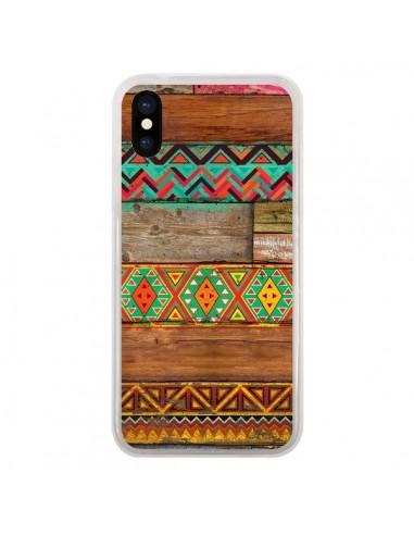 Coque iPhone X et XS Indian Wood Bois...