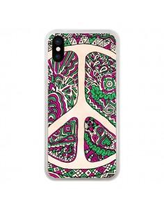 Coque iPhone X et XS Peace and Love Azteque Vainilla - Maximilian San