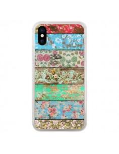Coque iPhone X et XS Rococo Style Bois Fleur - Maximilian San