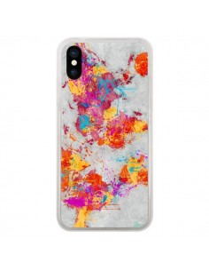 Coque iPhone X et XS Terre Map Monde Mother Earth Crying - Maximilian San