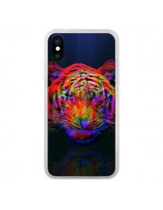 Coque Tigre Beautiful Aberration pour iPhone X et XS - Maximilian San