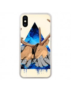 Coque iPhone X et XS Cerf Triangle Seconde Chance - Maximilian San