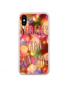 Coque iPhone X et XS Brighter Than Sunshine Paillettes - Maximilian San