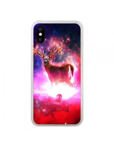 Coque iPhone X et XS Cosmic Deer Cerf Galaxy - Maximilian San