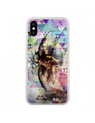 Coque iPhone X et XS Oeil Triangle Oiseau Cry Bird - Maximilian San