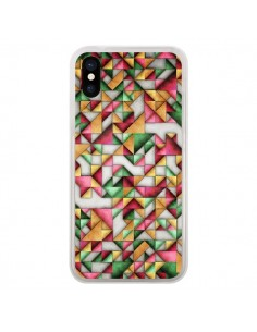 Coque iPhone X et XS Azteque Triangle Geometric World - Maximilian San