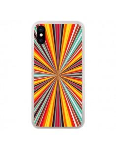 Coque iPhone X et XS Horizon Bandes Multicolores - Maximilian San