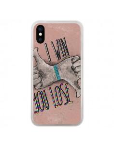 Coque iPhone X et XS I win You lose - Maximilian San