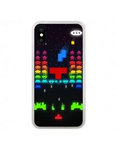 Coque iPhone X et XS Invatris Space Invaders Tetris Jeu - Maximilian San