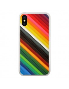 Coque iPhone X et XS Arc en Ciel Rainbow - Maximilian San