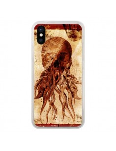 Coque iPhone X et XS Octopu Skull Poulpe Tête de Mort - Maximilian San