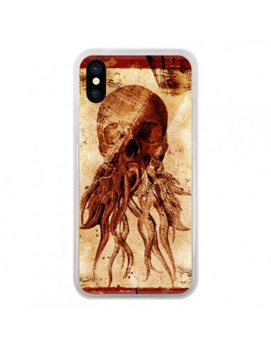 Coque iPhone X et XS Octopu Skull...