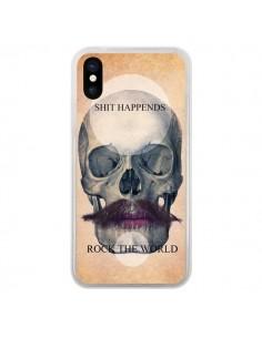 Coque iPhone X et XS Rock Skull Tête de Mort - Maximilian San