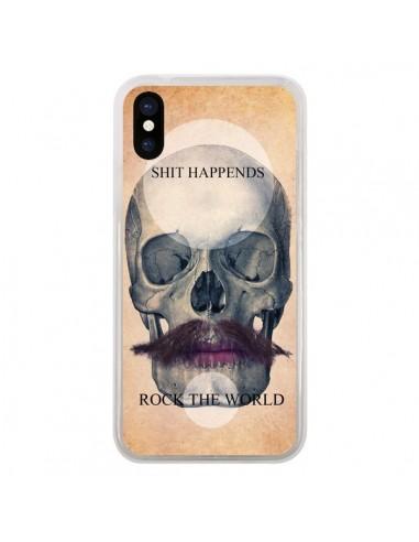 Coque iPhone X et XS Rock Skull Tête...