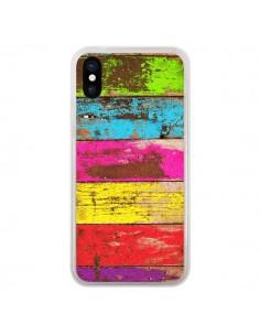 Coque iPhone X et XS Bois Coloré Vintage - Maximilian San