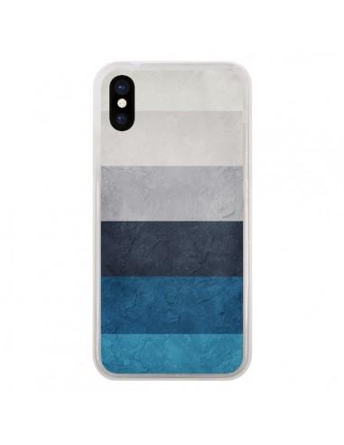 Coque iPhone X et XS Bandes Horizontales Greece Hues - Maximilian San