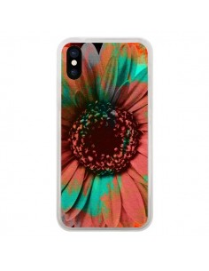 Coque iPhone X et XS Tournesol Lysergic Flower - Maximilian San