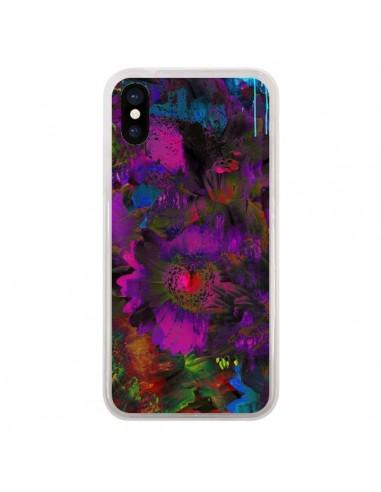 Coque iPhone X et XS Fleurs Lysergic...