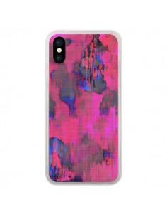 Coque iPhone X et XS Fleurs Rose Lysergic Pink - Maximilian San