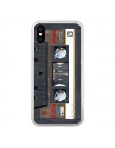 Coque iPhone X et XS Cassette Gold K7 - Maximilian San