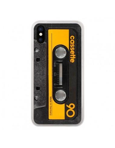 Coque iPhone X et XS Yellow Cassette K7 - Maximilian San
