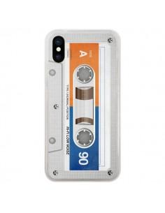 Coque iPhone X et XS White Cassette K7 - Maximilian San