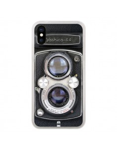 Coque iPhone X et XS Vintage Camera Yashica 44 Appareil Photo - Maximilian San